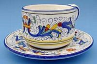 Vecchia Deruta Coffee Tea Cup with Saucer