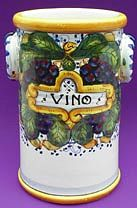 Uva Toscana Wine Bottle Utensil Holder