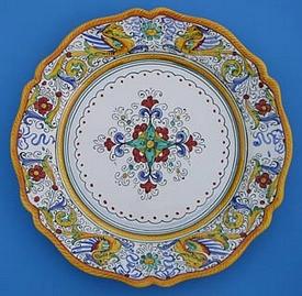 Raffaellesco Scalloped Round Serving Plate