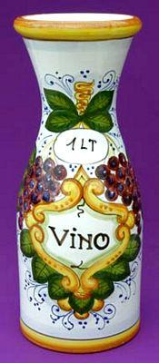 Italian Ceramic Wine Carafes
