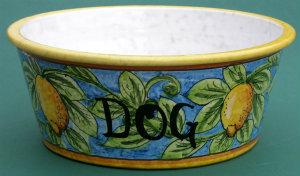 Italian Ceramic Dog Bowls