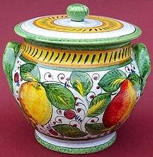 Frutta Mista Biscotti Jar - Large - Back