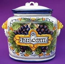 Uva Toscana Biscotti Jar