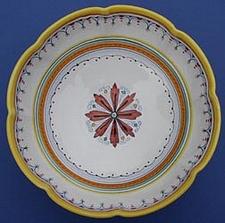 Ricco Deruta 12 inch Scalloped Serving Bowl