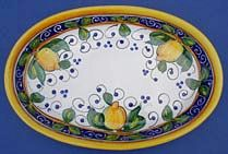 Limone Oval Serving Bowl