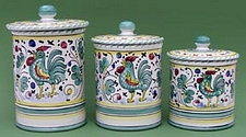 Green Orvieto 3 piece Canister Set