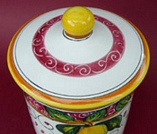 Limone Rosso Canister Top