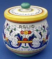 Ricco Deruta Garlic Jar