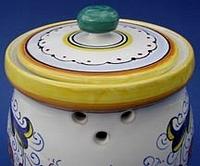 Ricco Deruta Garlic Jar - back
