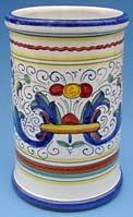 Vecchia Deruta Wine Bottle Utensil Holder