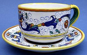 Ricco Deruta Cappuccino Caffè Latte Cup and Saucer