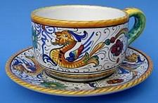 Raffaellesco Cappuccino Caffè Latte Cup and Saucer