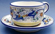 Vecchia Deruta Cappuccino Caffè Latte Cup and Saucer