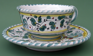 Green Orvieto Coffee Tea Cup with Saucer # 3
