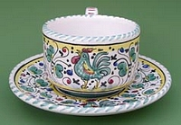 Green Orvieto Coffee Tea Cup and Saucer