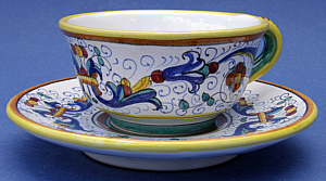 Ricco Deruta Coffee Tea Cup with Saucer # 3