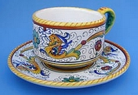Raffaellesco Coffee Tea Cup and Saucer