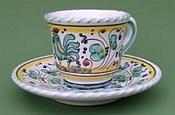 Green Orvieto Espresso Cup and Saucer