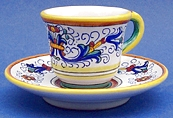 Ricco Deruta Espresso Cup and Saucer