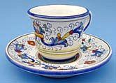 Vecchia Deruta Espresso Cup Vecchia Deruta Espresso Cup and Saucer
