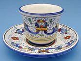 Vecchia Deruta Espresso Cup and Saucer