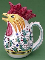 Green Orvieto .75 Rooster Pitcher