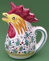 Green Orvieto 1.5 Rooster Pitcher - Large