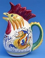Raffaellesco 1.5 Rooster Pitcher - Large