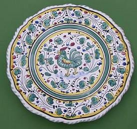 Green Orvieto Scalloped Salad Dessert Plate