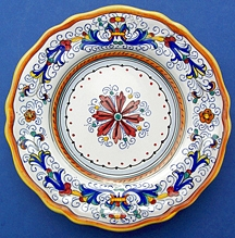 sc 1 st  Italian Ceramics Store   Italian Pottery \u0026 Deruta Dinnerware & Ricco Deruta Scalloped Salad Dessert Plate