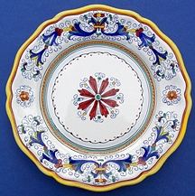 Ricco Deruta Scalloped Dinner Plate