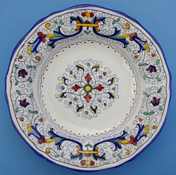Vecchia Deruta Scalloped Dinner Plate