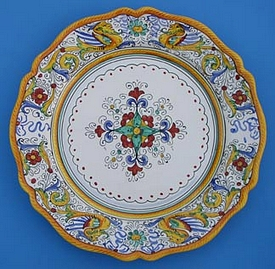 Raffaellesco Scalloped Round Serving Plate
