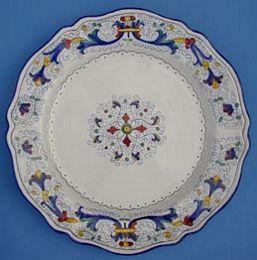 Vecchia Deruta Scalloped Round Serving Plate