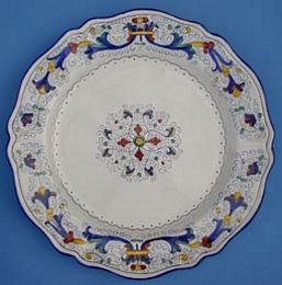 Vecchia Deruta Scalloped Round Serving Plate