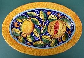 Lipari Oval Serving Plate