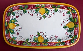 Limone Rosso Large Rectangular Tray