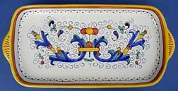 Ricco Deruta Large Rectangular Tray