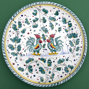 Green Orvieto Wall Plate #2