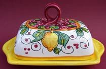 Limone Rosso Butter Dish with Cover