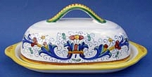 Ricco Deruta Butter Dish with Cover