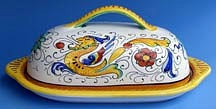 Raffaellesco Butter Dish with Cover