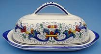 Vecchia Deruta Butter Dish with Cover