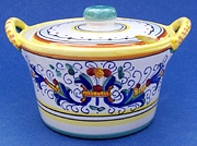 Ricco Deruta Sugar or Cheese Bowl