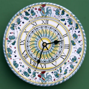 Green Orvieto Wall Clock
