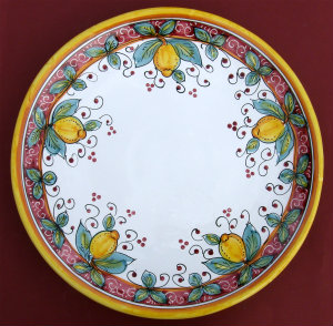 Limone Rosso Round Serving Plate - Large