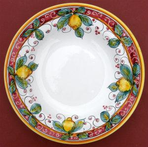 Limone Rosso Pasta Soup Bowl