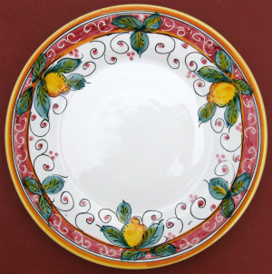Limone Rosso Salad Dessert Plate
