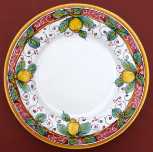 Limone Rosso Dinner Plate