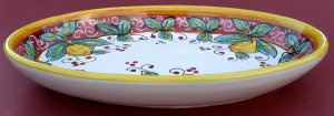 Limone Rosso Oval Serving Bowl